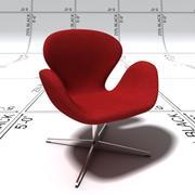 Лебединое кресло 3d model