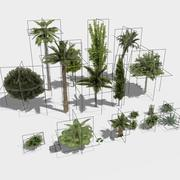 20 Trees and Shrubs - LowPoly Version 3d model