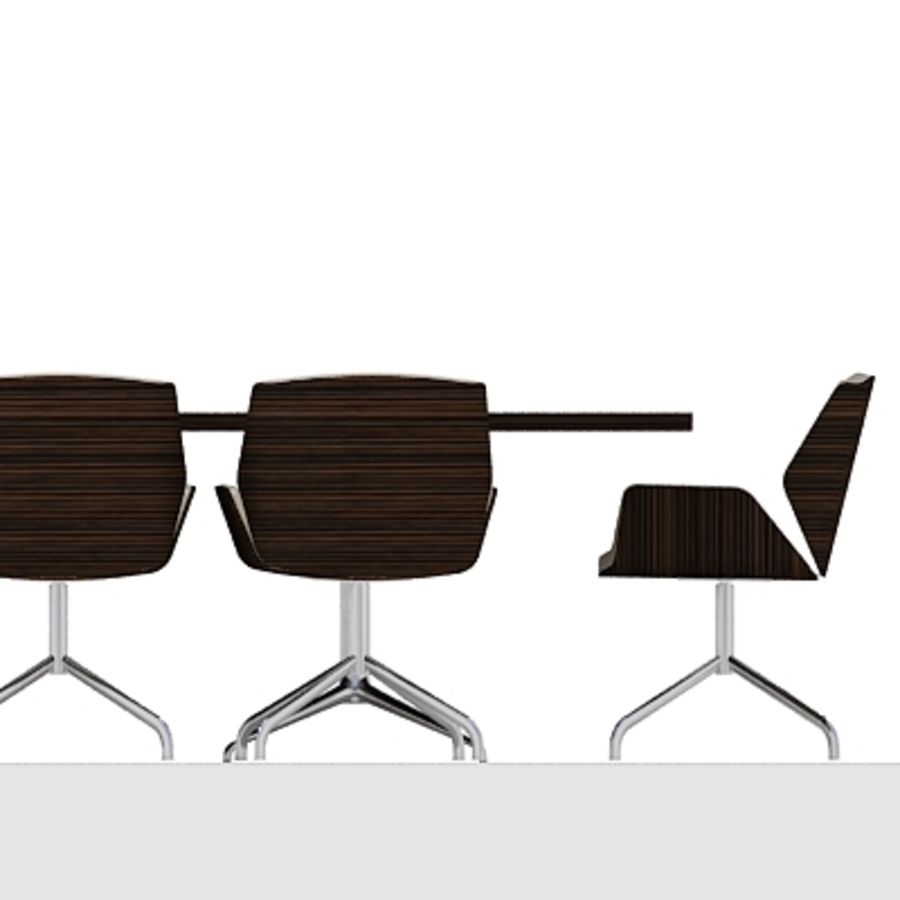 Meeting Room Furniture 03 royalty-free 3d model - Preview no. 4