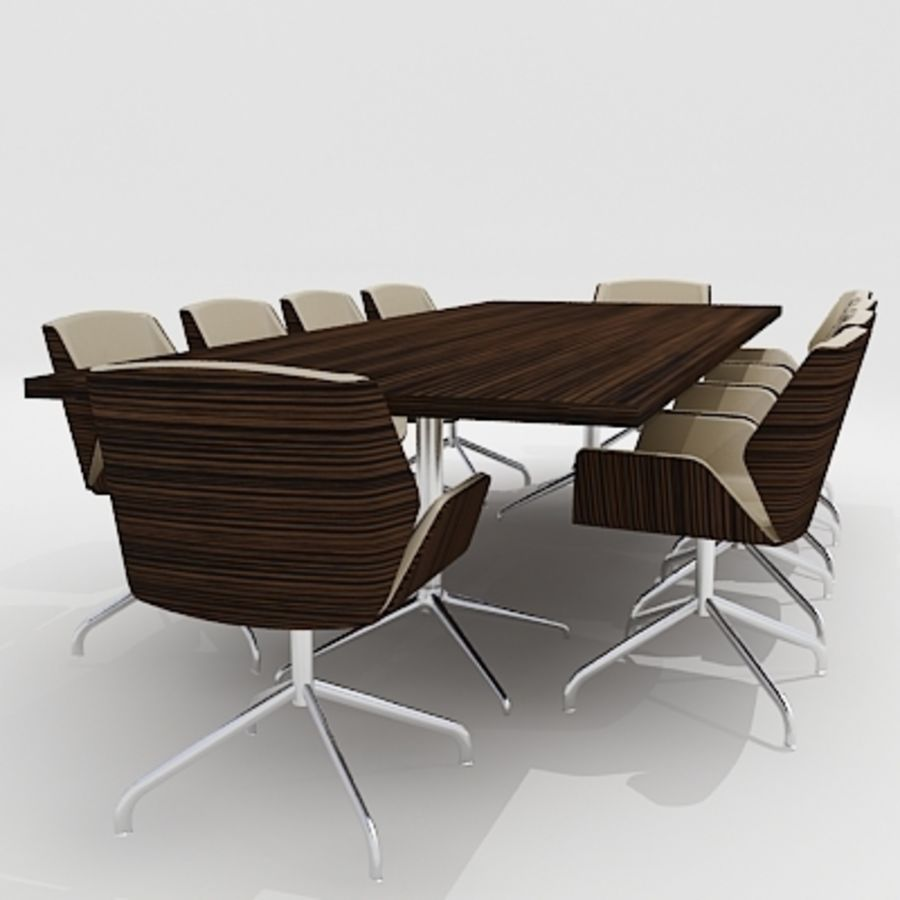 Meeting Room Furniture 03 royalty-free 3d model - Preview no. 1