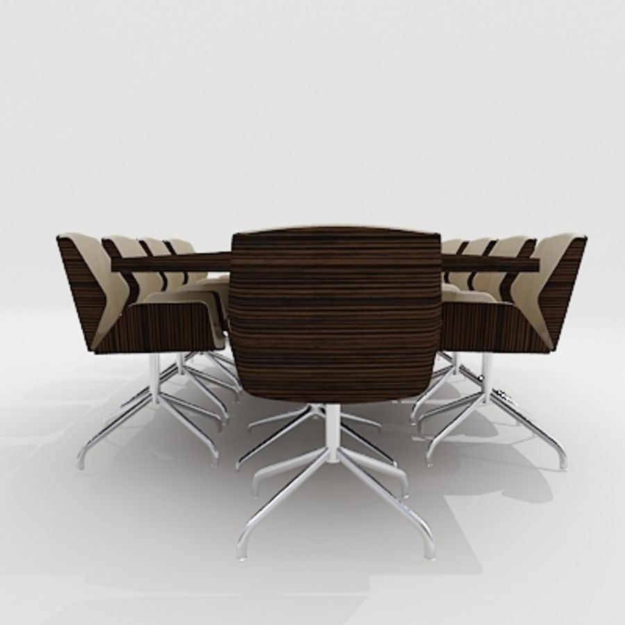 Meeting Room Furniture 03 royalty-free 3d model - Preview no. 2