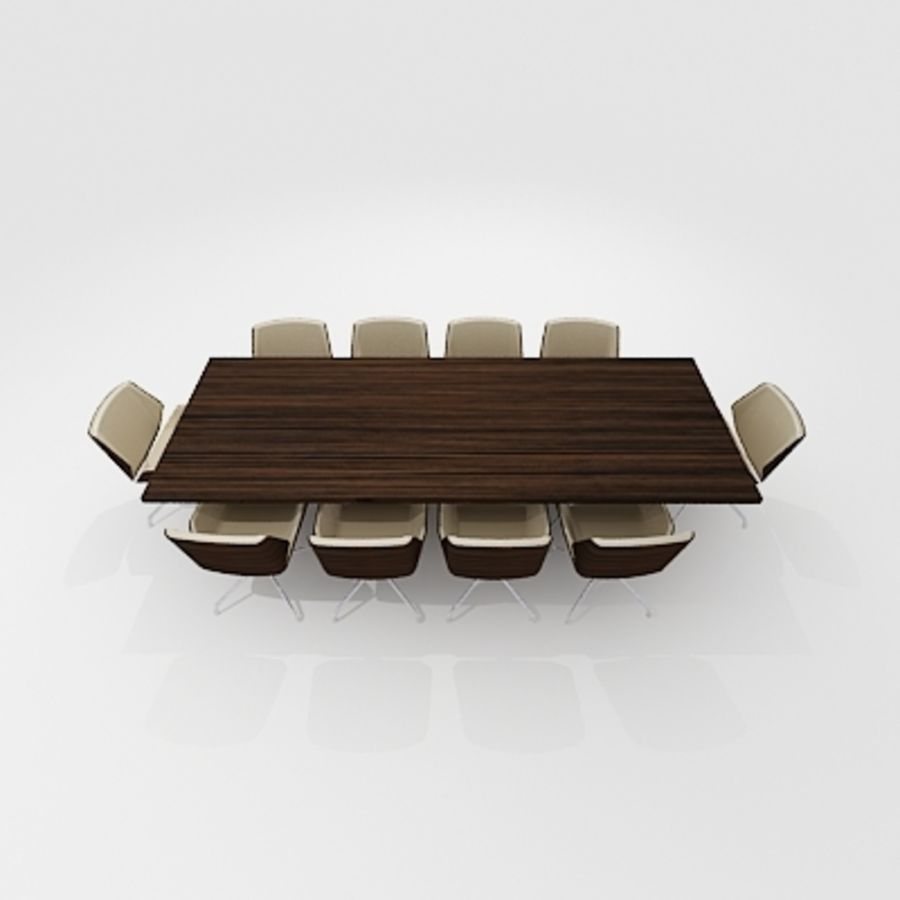 Meeting Room Furniture 03 royalty-free 3d model - Preview no. 3