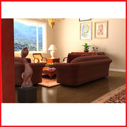 High def vardagsrum herrgård 3d model