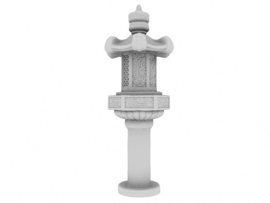Azjatycka lampa royalty-free 3d model - Preview no. 2