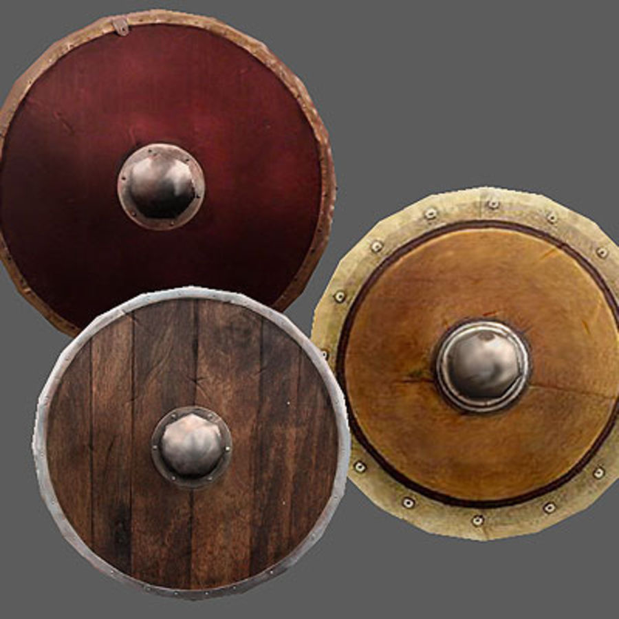 Arena Weapons and Shields royalty-free 3d model - Preview no. 3