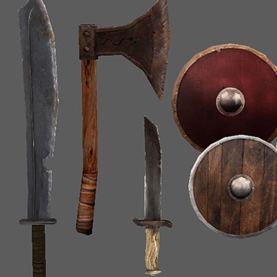 Arena Weapons and Shields royalty-free 3d model - Preview no. 2