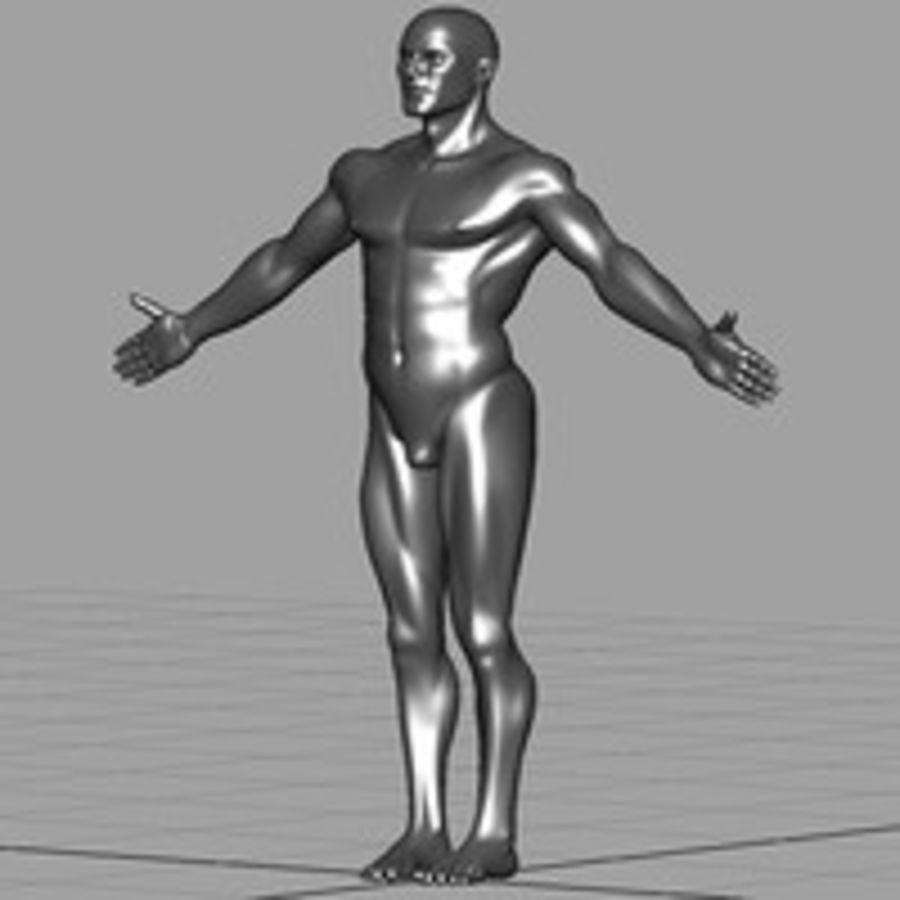 Macho atlético royalty-free 3d model - Preview no. 3
