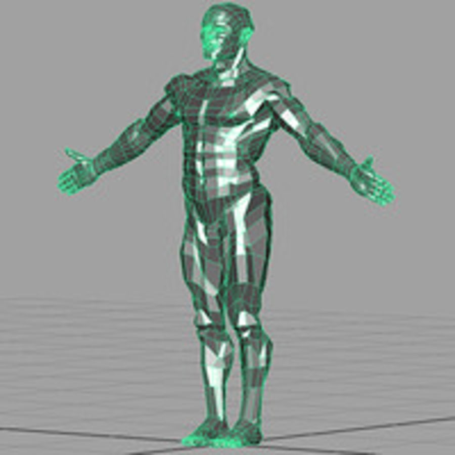 Macho atlético royalty-free 3d model - Preview no. 4