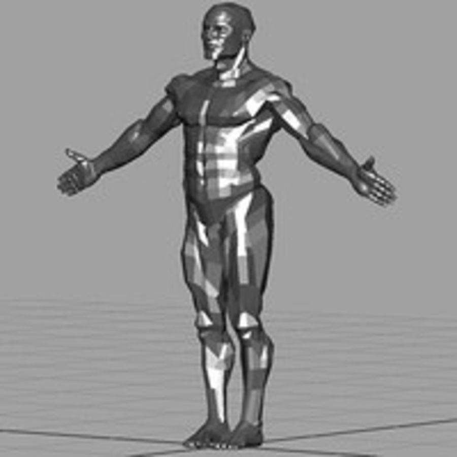 Macho atlético royalty-free 3d model - Preview no. 2