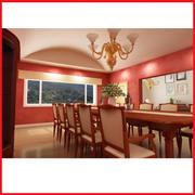 High Def Modern Classic Dinning room mansion 3d model