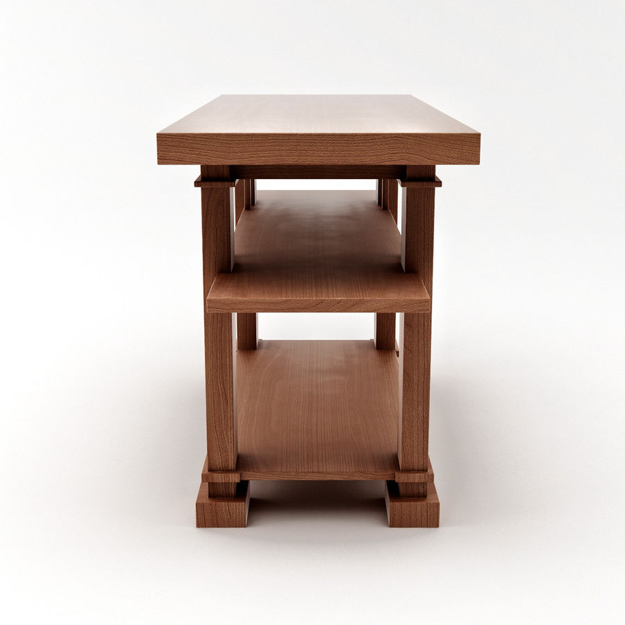 Boynton Hall Table royalty-free 3d model - Preview no. 7
