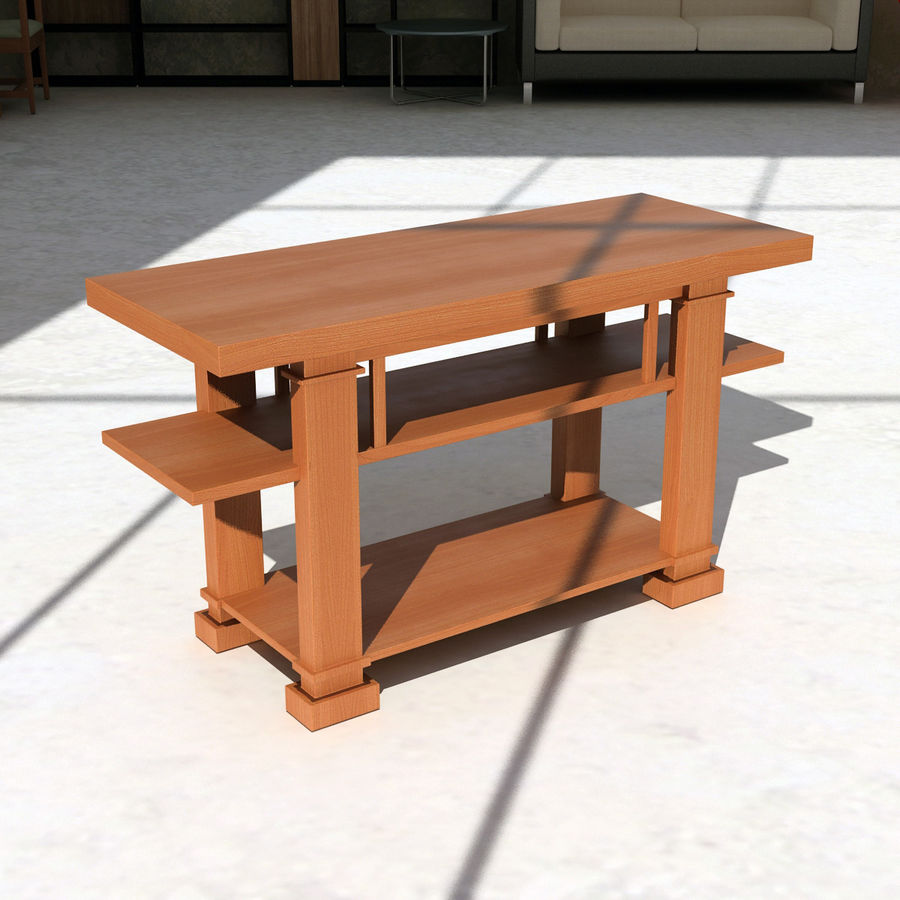 Boynton Hall Table royalty-free 3d model - Preview no. 2