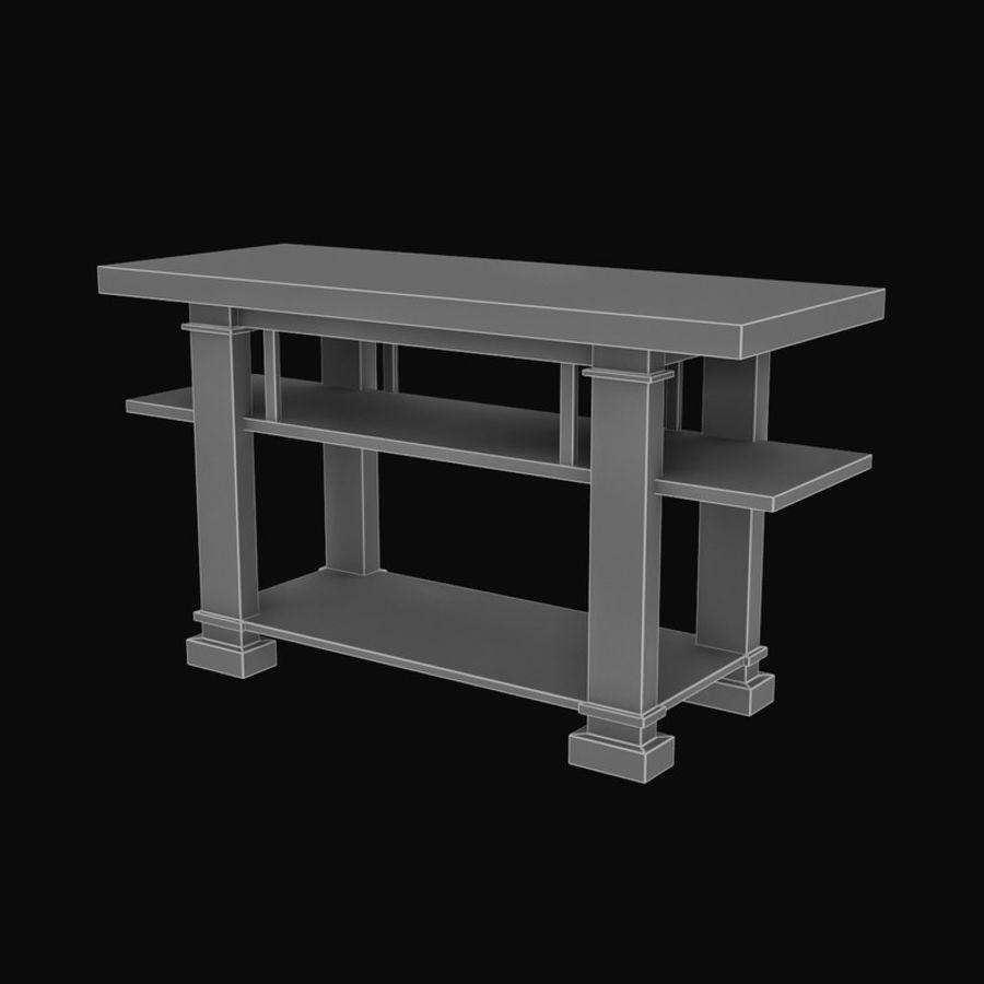 Boynton Hall Table royalty-free 3d model - Preview no. 9
