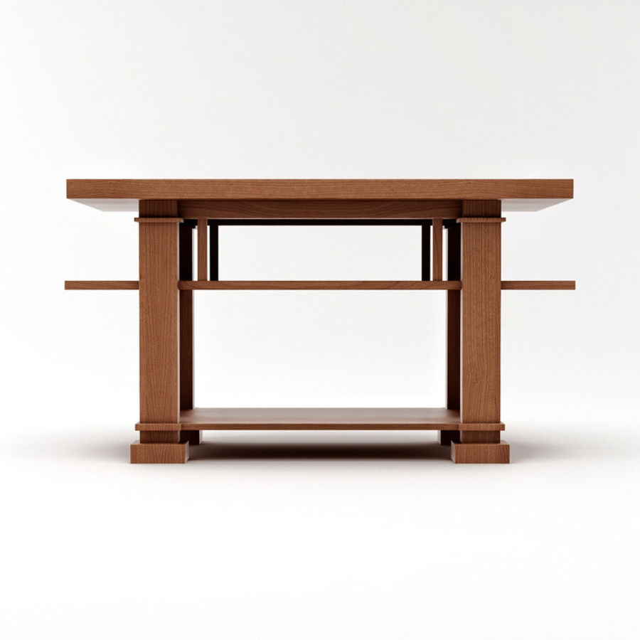 Boynton Hall Table royalty-free 3d model - Preview no. 4