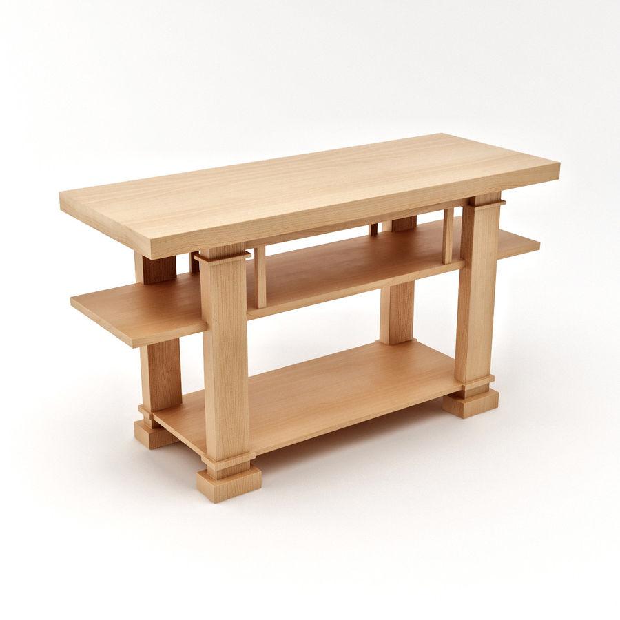 Boynton Hall Table royalty-free 3d model - Preview no. 3