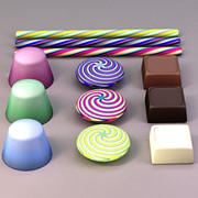 classic candy treats 3d model
