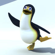 rigged penguin character 3d model