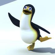 carattere pinguino truccato 3d model