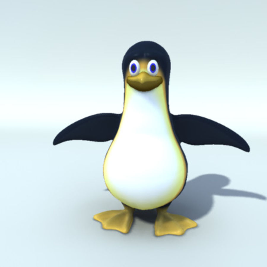 rigged penguin character royalty-free 3d model - Preview no. 2