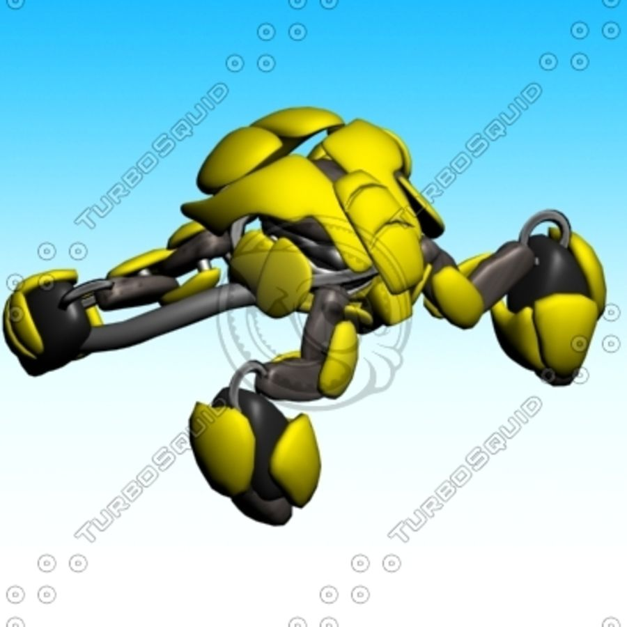 crab canon royalty-free 3d model - Preview no. 6