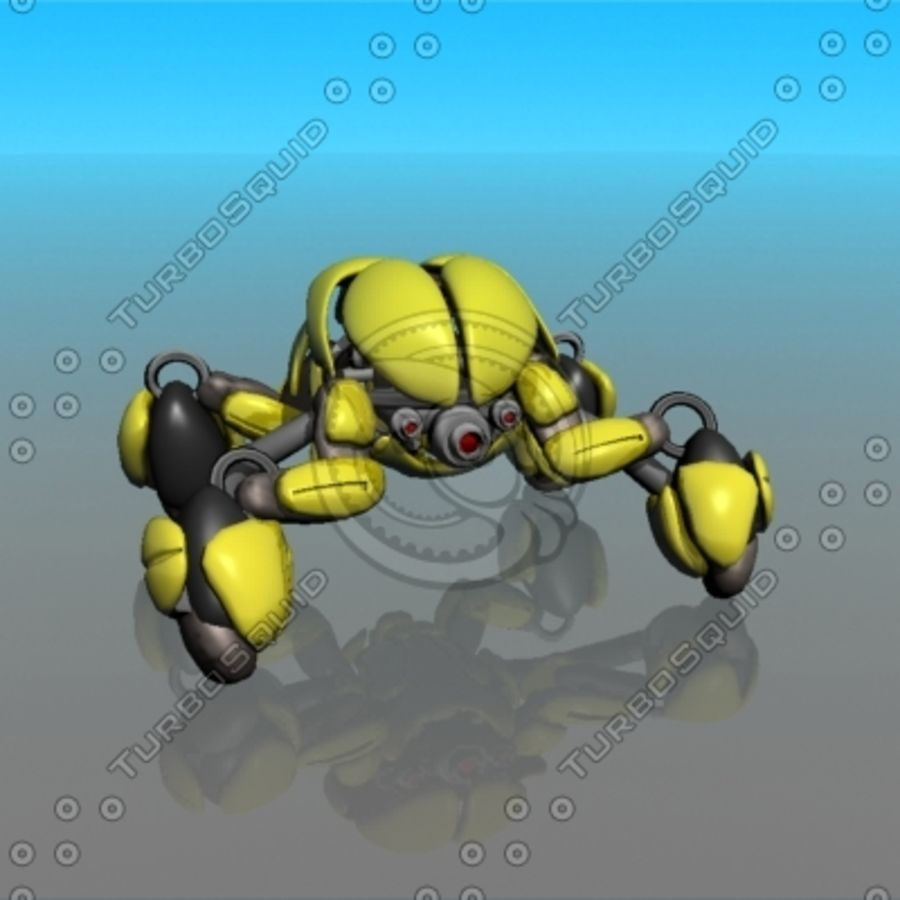 crab canon royalty-free 3d model - Preview no. 1