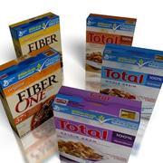 5 cajas de cereales modelo 3d