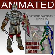 Armored_Swordman 3d model