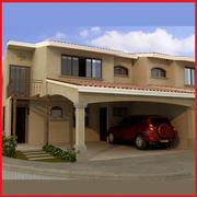 Nice Latin Hacienda Modern duplex condo 3d model