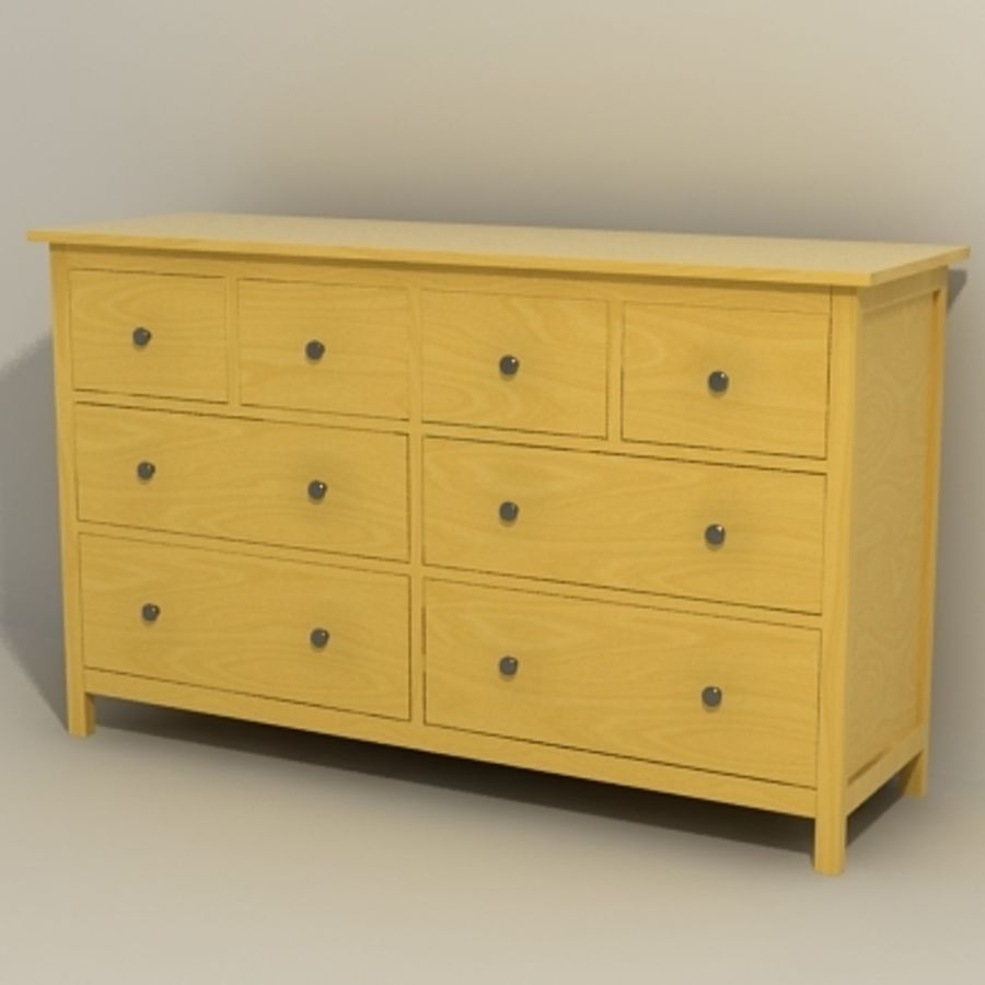 Ikea Hemnes komode 02 royalty-free 3d model - Preview no. 2