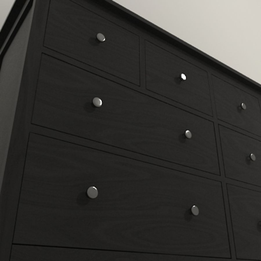 Ikea Hemnes komode 02 royalty-free 3d model - Preview no. 5