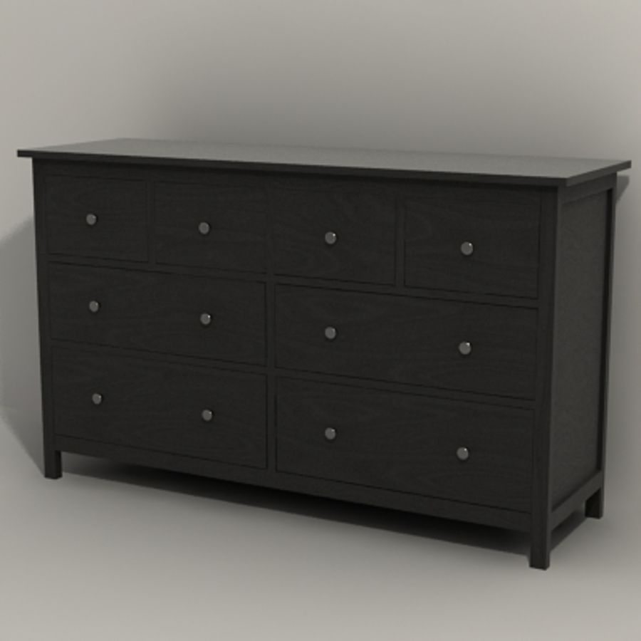 Ikea Hemnes komode 02 royalty-free 3d model - Preview no. 4