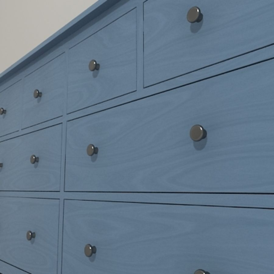 Ikea Hemnes komode 02 royalty-free 3d model - Preview no. 7