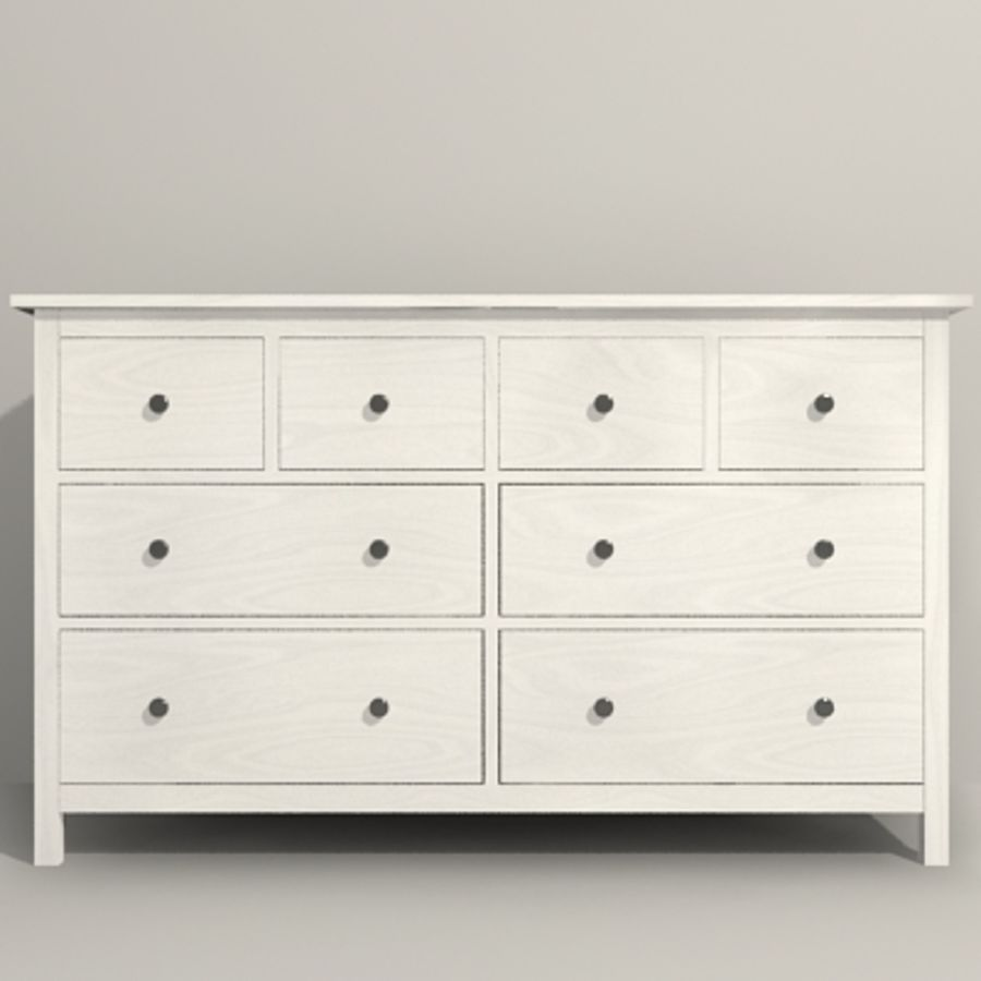 Ikea Hemnes komode 02 royalty-free 3d model - Preview no. 9