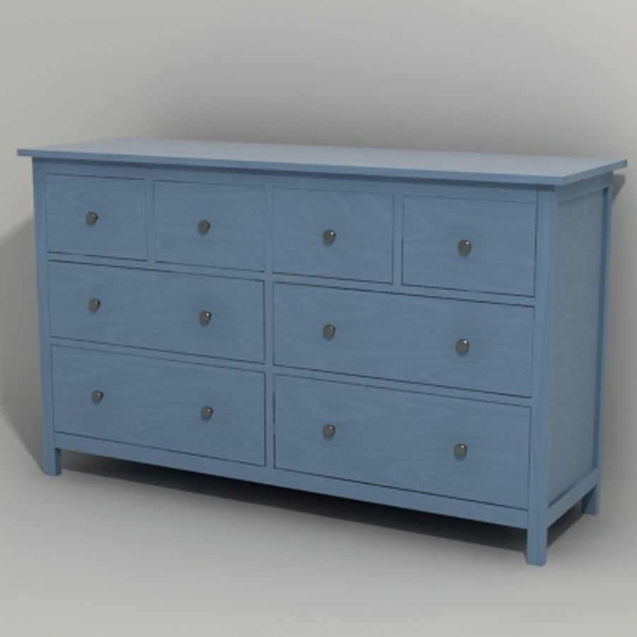 Ikea Hemnes komode 02 royalty-free 3d model - Preview no. 6