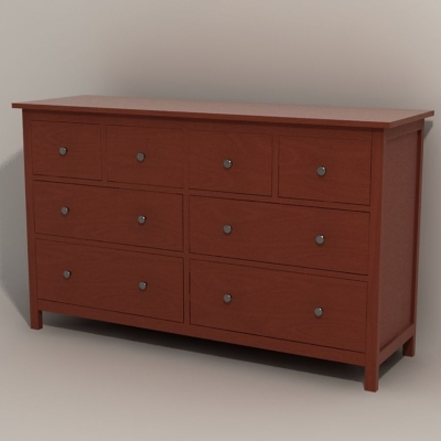 Ikea Hemnes komode 02 royalty-free 3d model - Preview no. 11