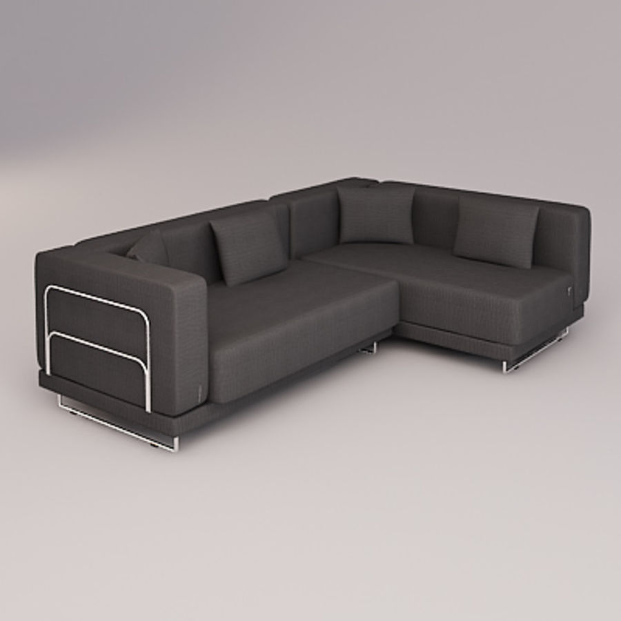 tylosand corner sofa royalty-free 3d model - Preview no. 1