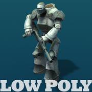 Robot - animerad lowpoly modell 3d model