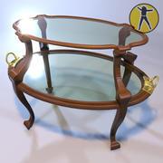 Art Nouveau coffee table 3d model