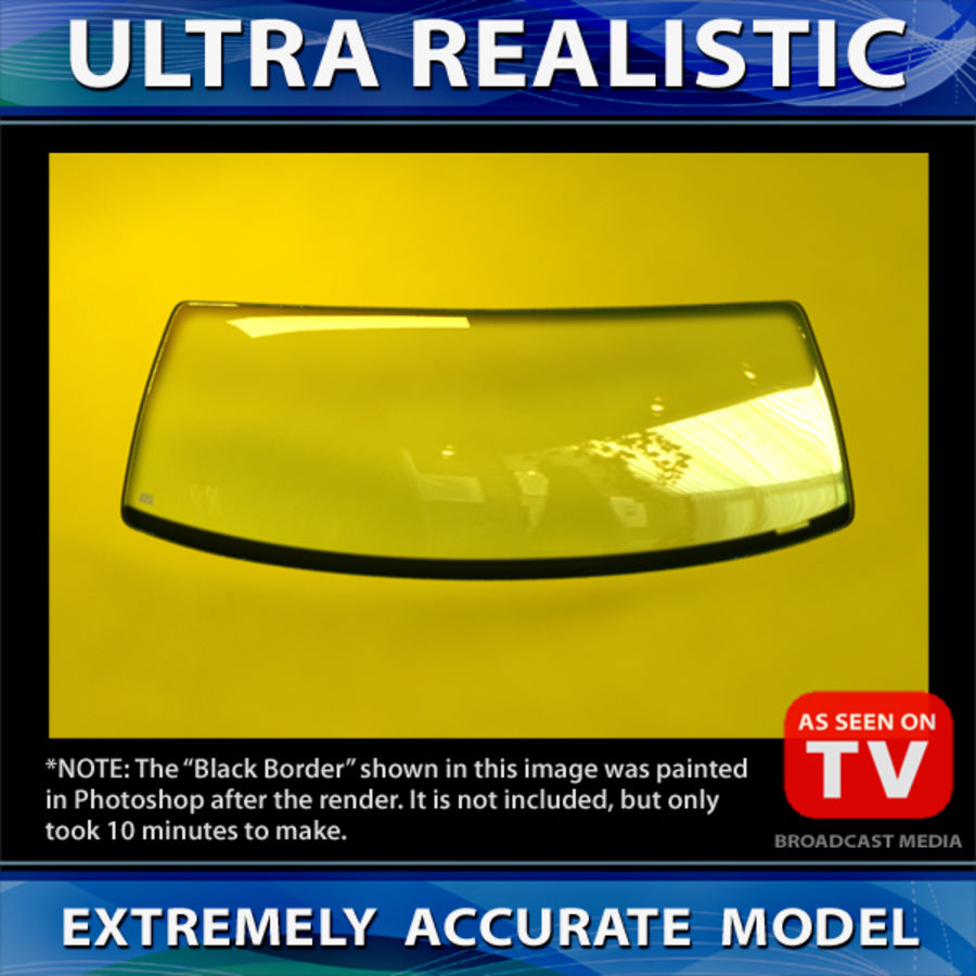 Windshield (VEHICLE) royalty-free 3d model - Preview no. 4