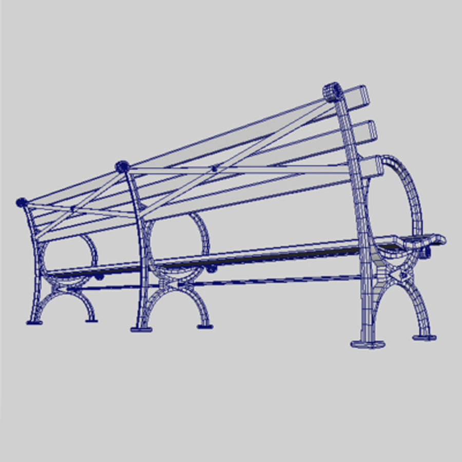 Bench_1.mb royalty-free 3d model - Preview no. 1