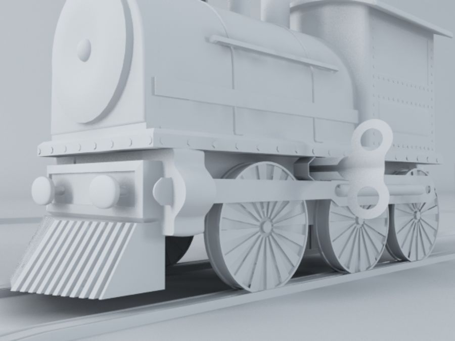 おもちゃの列車 royalty-free 3d model - Preview no. 10