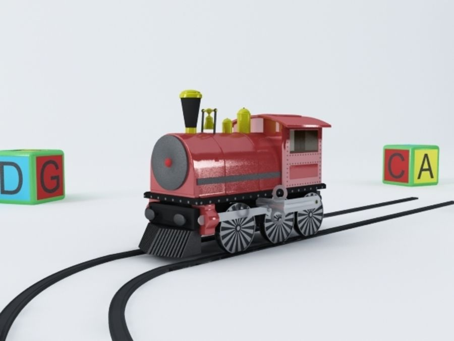 おもちゃの列車 royalty-free 3d model - Preview no. 2