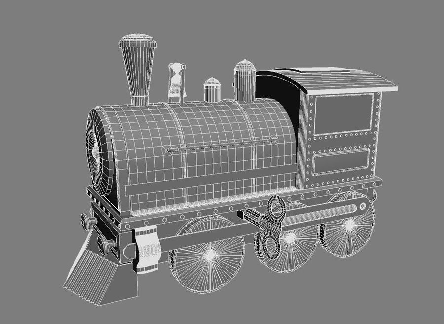 おもちゃの列車 royalty-free 3d model - Preview no. 12