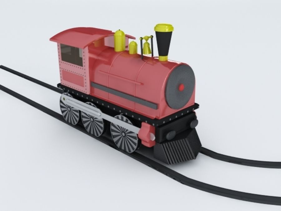 おもちゃの列車 royalty-free 3d model - Preview no. 7
