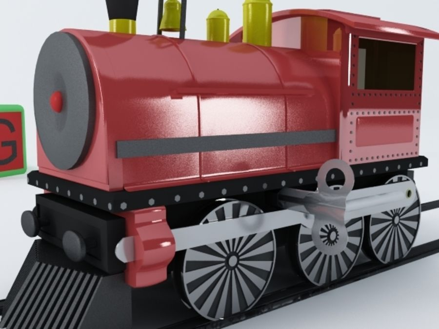 おもちゃの列車 royalty-free 3d model - Preview no. 5