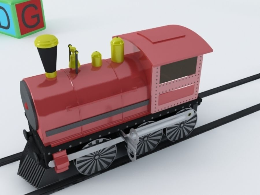 おもちゃの列車 royalty-free 3d model - Preview no. 4