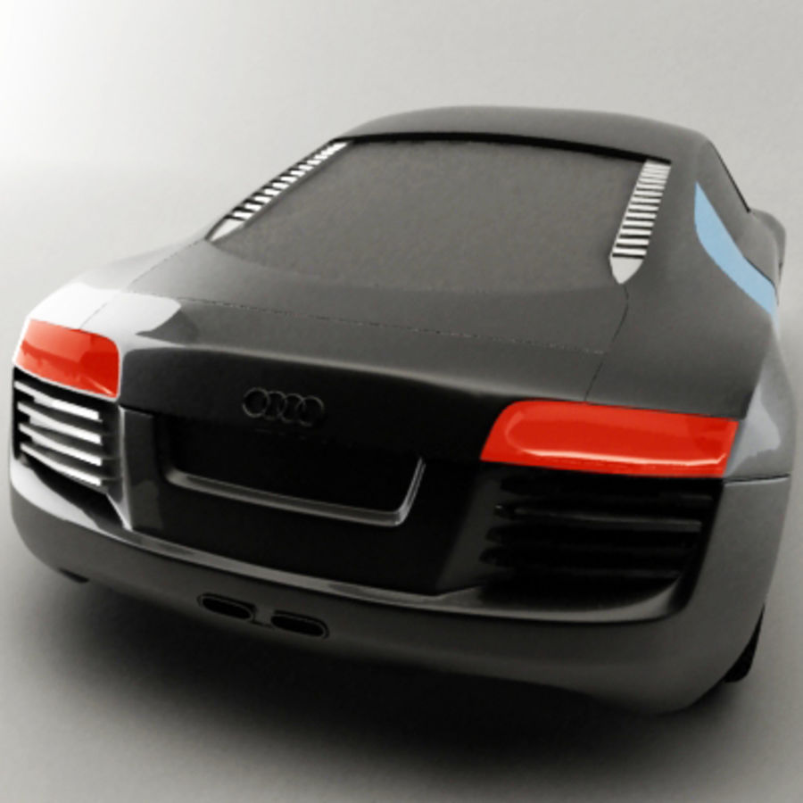 Audi le mans quattro / R8 royalty-free 3d model - Preview no. 2