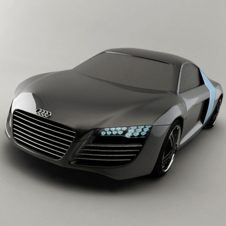 Audi le mans quattro / R8 royalty-free 3d model - Preview no. 1