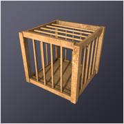 Medieval Poultry Cage (LD) 3d model
