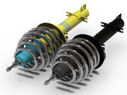 Bilstein car suspension 3d model
